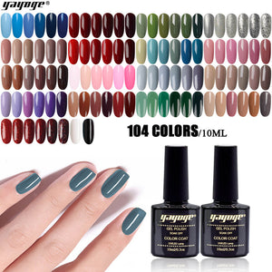 YAYOGE 2 Bottle/Set 10ml UV LED Gel Nail Polish Soak Off Nail Gel Long-Lasting Nail Art Gel - YAYOGE Official