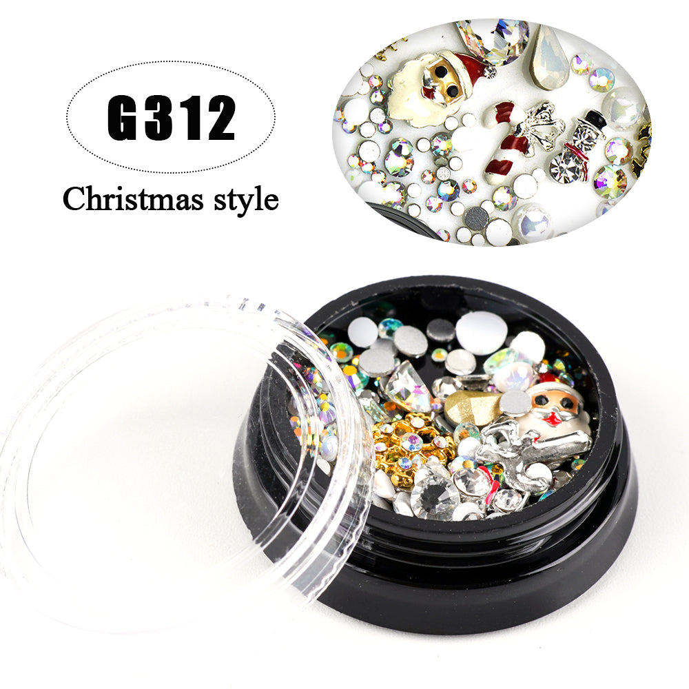 Christmas Lightweight Nail Diamond Rhinestone Nail Art DIY Decoration
