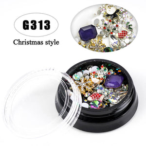 YAYOGE Christmas Lightweight 3D Nail Diamond Rhinestone - G313 - YAYOGE Official