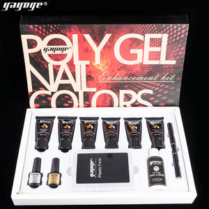 YAYOGE 12Pcs/Set Polygel Kit UV LED Quick Extension Starter Enhancement Kit - YAYOGE Official