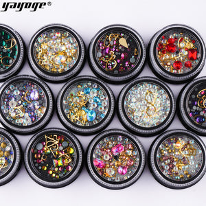 UK WAREHOUSE YAYOGE 3D Nail Glitter Diamond Rhinestone Sequins - YAYOGE Official