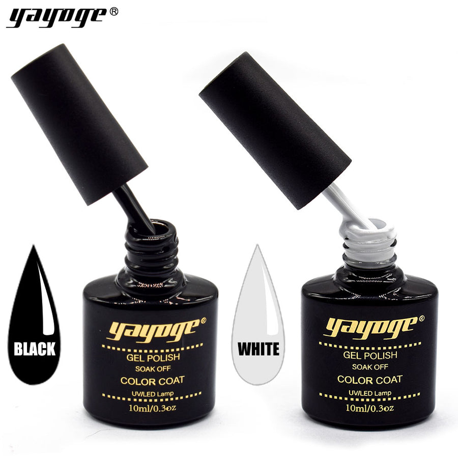 US WAREHOUSE YAYOGE 10ml Black White UV LED Nail Gel Polish - YAYOGE Official