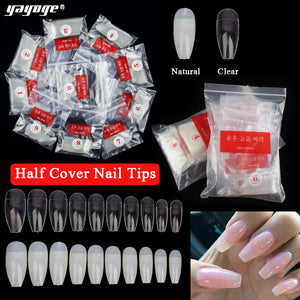 YAYOGE 500Pcs/Set Half/Full Cover Ballerina Square French Ballet Acrylic Nail Art Tips - YAYOGE Official