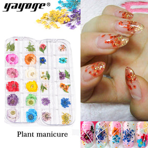 YAYOGE Flower Pattern DIY Adhesive Rattan Nail Sticker Nail Art Paste Manicure Floral Sticker Decoration - YAYOGE Official