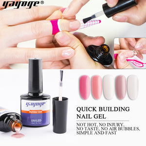 UK WAREHOUSE YAYOGE 5Colors Builder Gel Liquid Quick Nail Extension Builder Gel in a bottle - YAYOGE Official