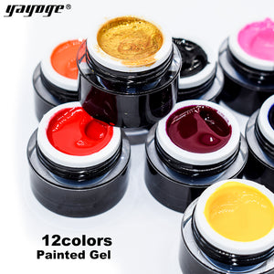 UK WAREHOUSE YAYOGE 12Colors Optional 8ml Nail Painted Gel - YAYOGE Official