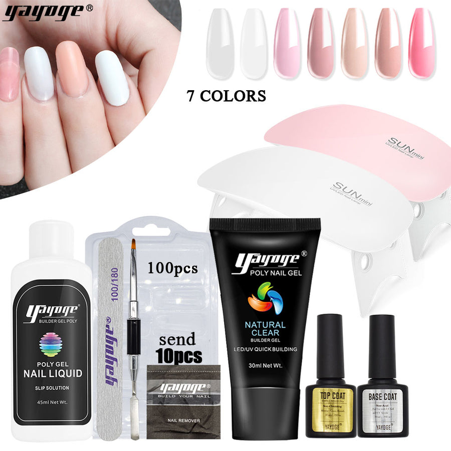 UK WAREHOUSE 7 Basic Colors Poly Gel Starter Kit P26-S7(30ml)
