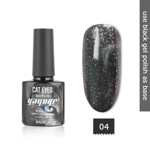 YAYOGE 10ml Starry Sky Magnetic Cat Eye Nail Gel Polish Varnish Long-Lasting Gel Lacquer Nail Art DIY - YAYOGE Official