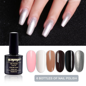 YAYOGE 10ml 6Bottle/Set Nail Art Design Gel Polish Kit UV LED Soak Off Gel Nail Art DIY - YAYOGE Official