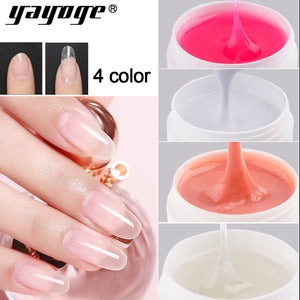 YAYOGE 2.4oz Builder Gel Nail Fast Extended Gel Quick Builder Soak Off Crystal Jelly for Nail Extension - YAYOGE Official