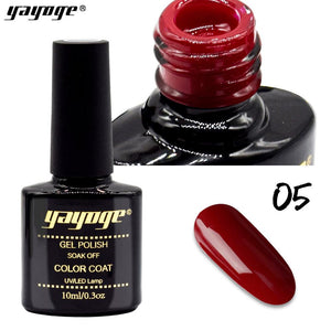 YAYOGE 6Colors Rose Red Series UV LED Gel Nail Polish Long Lasting Varnish Soak Off Nail Art Gel - YAYOGE Official