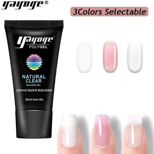 UK WAREHOUSE YAYOGE 30ml Polygel UV LED Quick Nail Extension 3Colors Selectable - YAYOGE Official