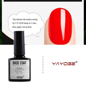 US WAREHOUSE YAYOGE 10ml Non Cleansing Matte Top Base Coat - YAYOGE Official