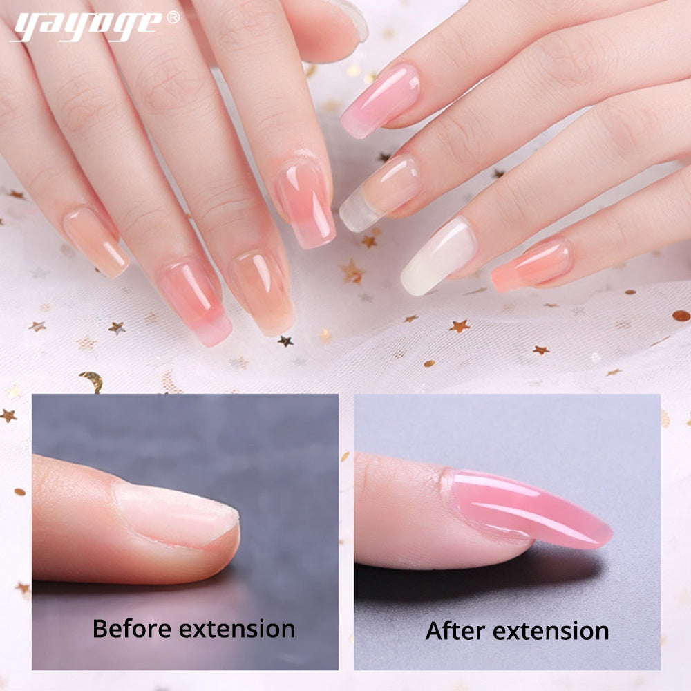 US WAREHOUSE YAYOGE 5Pcs/set 30ml UV LED Polygel Set Nail Extension Kit - YAYOGE Official