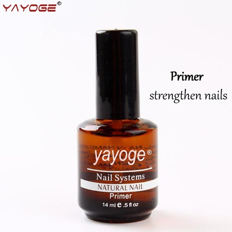 YAYOGE 14ml Natural Nail Primer Base Coat Nail Art Soak Off UV LED Gel Polish Acid Bonder - YAYOGE Official