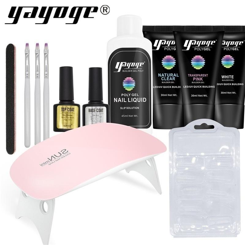 UK WAREHOUSE YAYOGE 13Pcs/Set Polygel Nail Kit UV LED Gel Nail Extensions Gel Nail Designs - YAYOGE Official