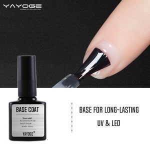 YAYOGE No Wipe Nail Matte Top Base Coat UV LED Bonder Primer Nail Extension Art DIY Tool - YAYOGE Official