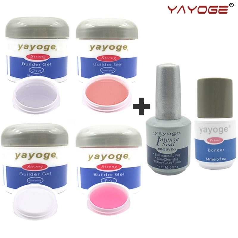 YAYOGE 56g Nail Builder Gel + Base Top Coat UV LED Nail Builder Series 1 Nail Extension Hard Gel Nail Art DIY - YAYOGE Official