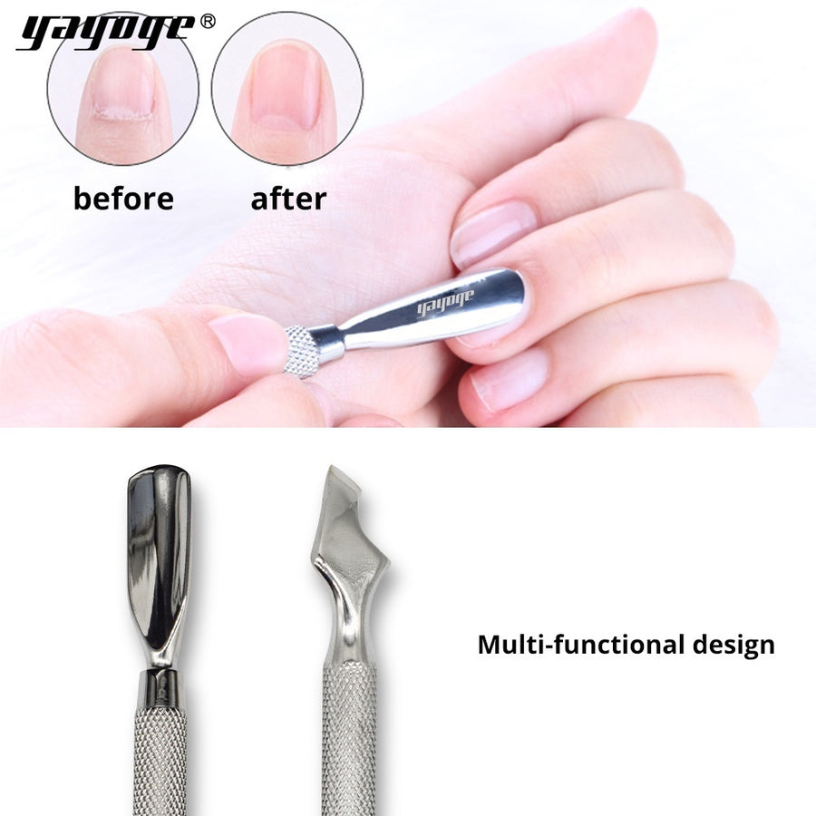Double-Sided Stainless Steel Cuticle Pusher