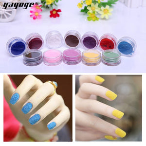 YAYOGE 12Colors/Set Nail Art Glitter Decoration Fluffy Velvet Powder Nail Art DIY - YAYOGE Official