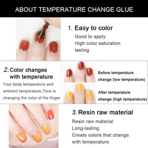 YAYOGE 15ml 72Colors Temperature Change Nail Gel UV LED Chameleon Color Gel Polish - YAYOGE Official