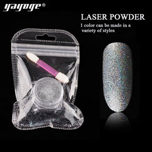 YAYOGE Silver Nail Glitter Laser Powder Chrome Powder - YAYOGE Official