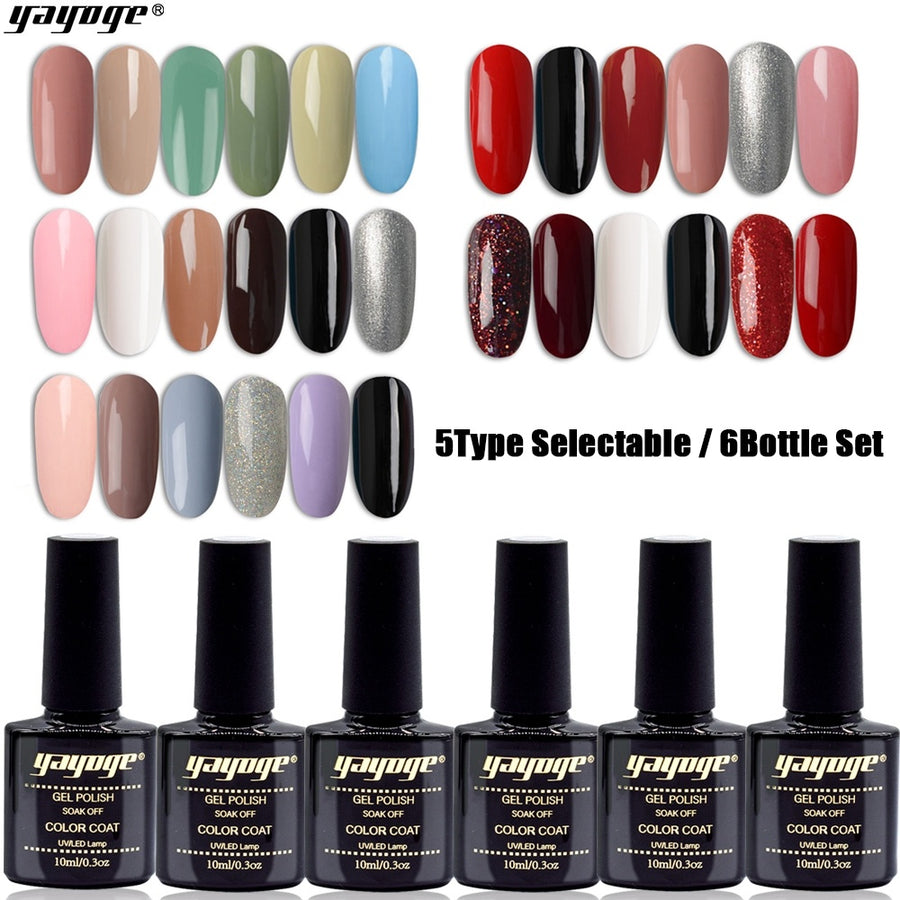 6 Bottle/Set UV LED Soak Off Gel Polish Kit S4-6P(10ml)