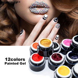 YAYOGE 12Colors Nail Painted Gel Soak Off Long-Lasting UV LED Gel Polish Nail Salon - YAYOGE Official
