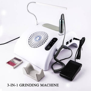 3IN1 Electric Nail Drill Machine File Bits Set Nail Art Pedicure Manicure Nail Salon Store - YAYOGE Official