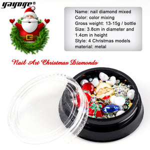 YAYOGE Christmas Lightweight 3D Nail Diamond Rhinestone - G314 - YAYOGE Official