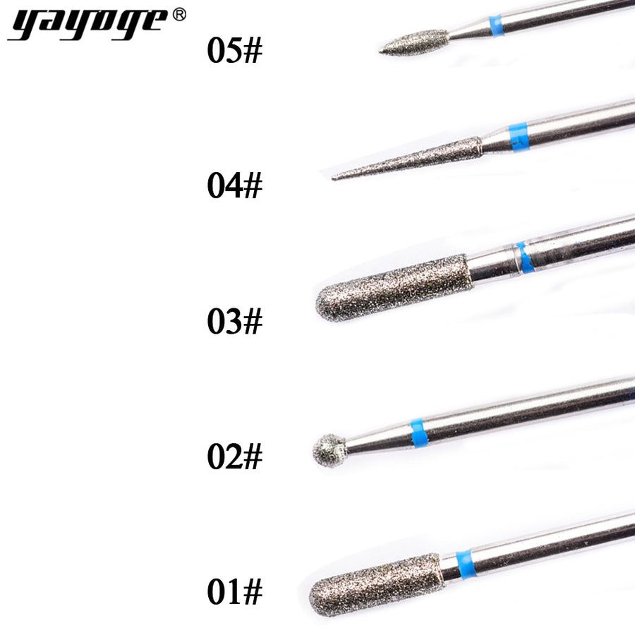 YAYOGE 5Pcs/Set Ceramic Diamond Drill Bits Electric Nail Drill Bits Gel Remove Nail Unloading Head Manicure Art Tools - YAYOGE Official