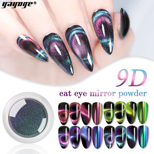 YAYOGE Magnetic Cat Eye Mirror Powder 9D