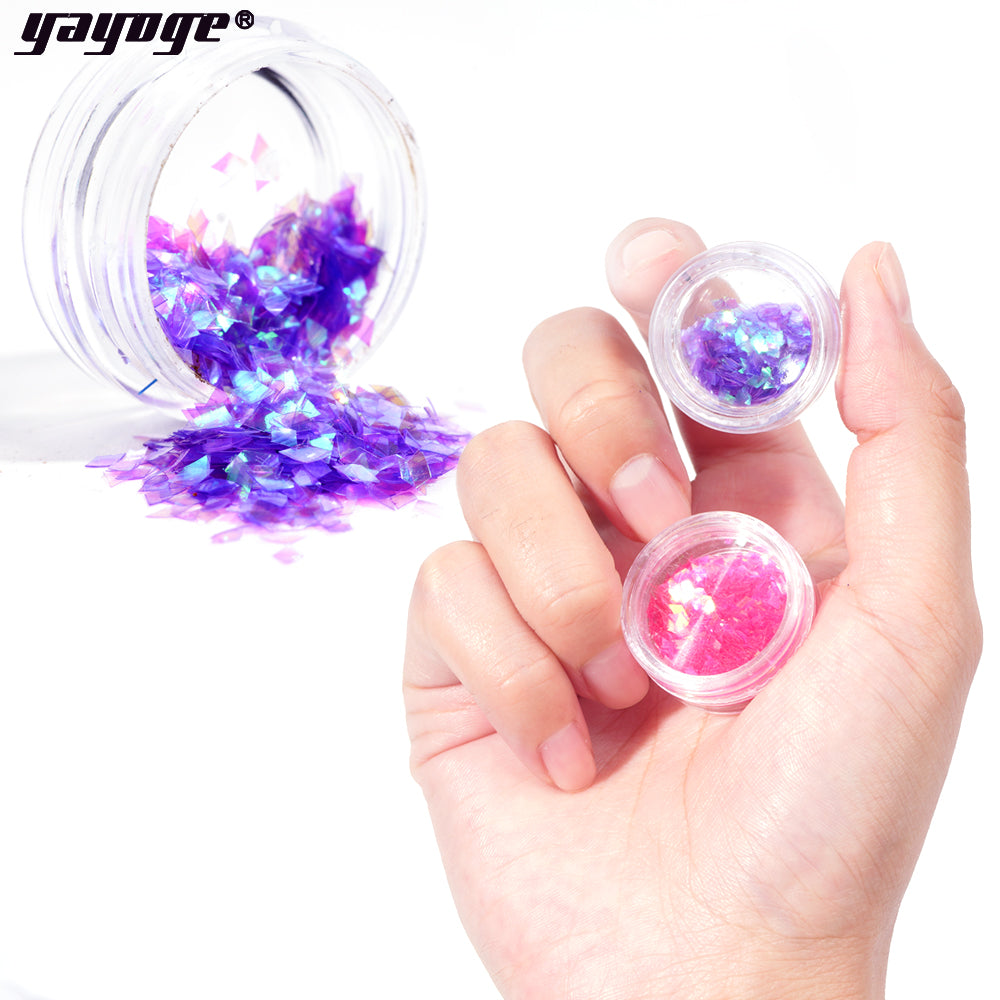 12 Colors Set Nail Glitter Powder Sequins SE