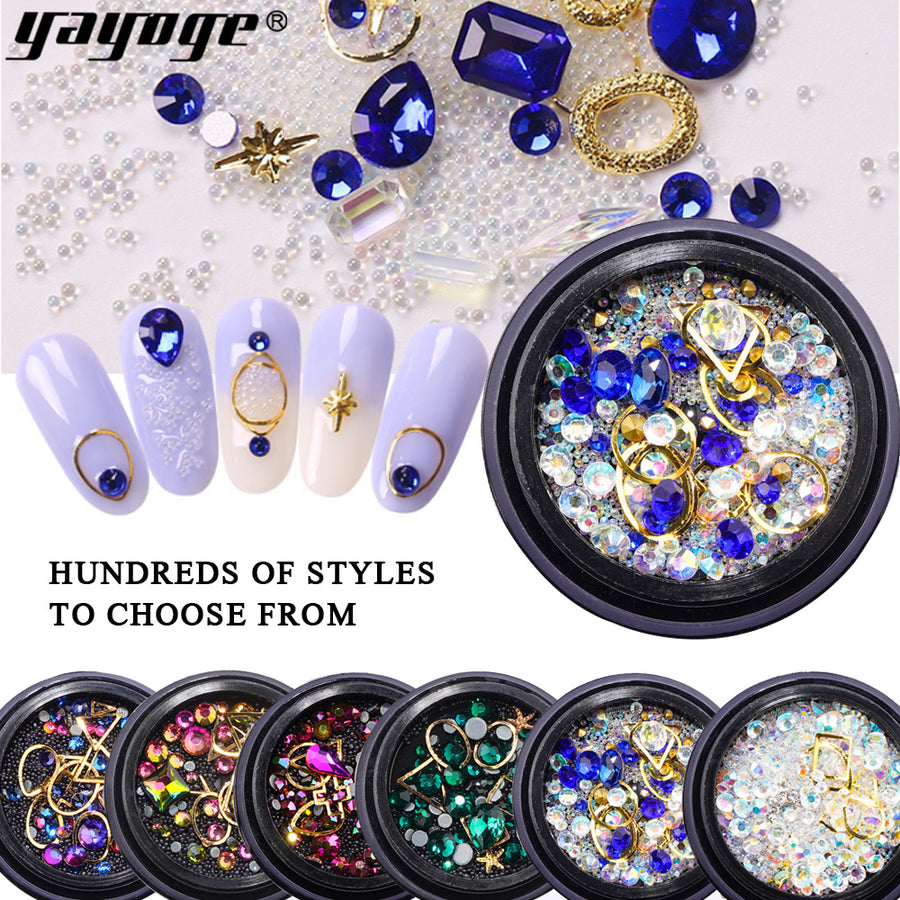US WAREHOUSE Nail Glitter 3D Diamond Sequins HHZS