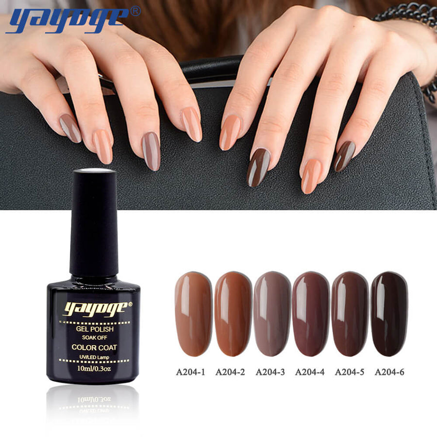 6 Colors Chocolate Series Nail Gel Polish Soak Off(10ml)