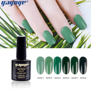 US WAREHOUSE YAYOGE 6Colors/Set Forest Green Series UV LED Soak Off Gel Nail Polish Varnish - YAYOGE Official