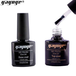 YAYOGE 10ml UV LED Gel Base Top Coat Set Nail Bonder Intense Seal Nail Art DIY Salon Tool - YAYOGE Official