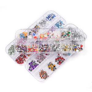 2mm 3D Gems Nail Art Decorations J14