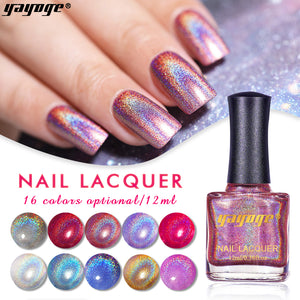 Highly Pigmented 16 Colors Holographic Nail Polish(12ml)