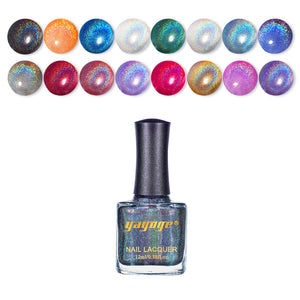 Highly Pigmented 10 Colors Holographic Nail Polish(12ml)