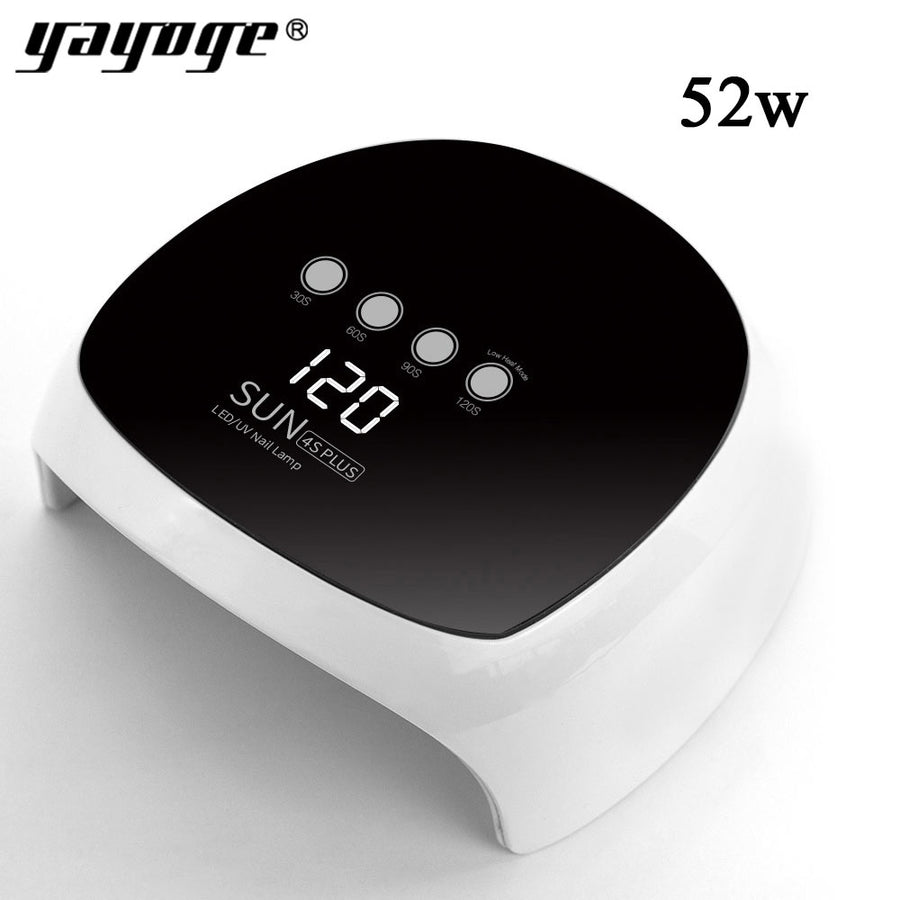 SUN4PLUS 52W UV LED Lamp Nail Dryer Nail Gel Curing Double Light Auto Sensor Nail Manicure Tool - YAYOGE Official