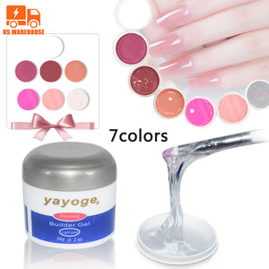US WAREHOUSE YAYOGE 56g Nail Builder Gel UV Led Fast Nail Extended Base Top Coat Hard Jelly Gel Nail Art Tool - YAYOGE Official