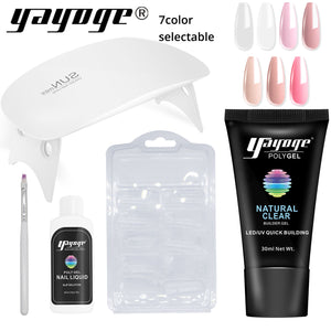 UK WAREHOUSE YAYOGE 5Pcs/Set PolyGel Set UV LED Quick Builder Nail Extension - YAYOGE Official