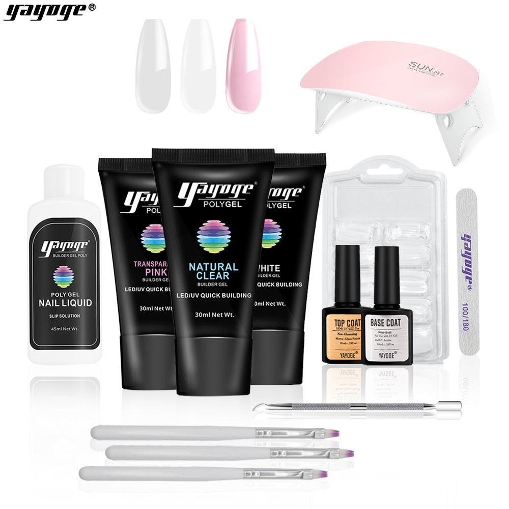 US WAREHOUSE Polygel Nail Kit P16-S8-3P