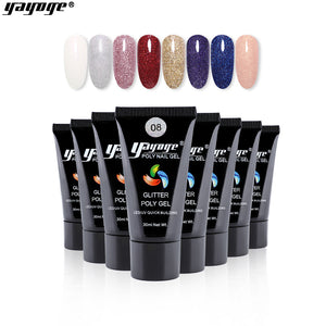 UK WAREHOUSE 8 Colors Glitter Poly Gel P17(30ml)