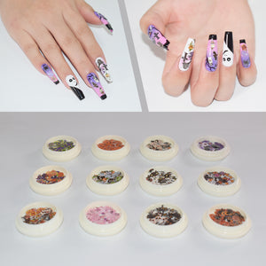 HALLOWEEN Nail Art Decors Spooky Nails Sticker WSJ