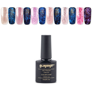 Luminous Gel Polish Starry Glitter Gel Varnish Nail Lacquer Fluorescent Gel Enamel(10ml)