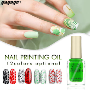 YAYOGE Glitter Stamping Printing Oil YHY