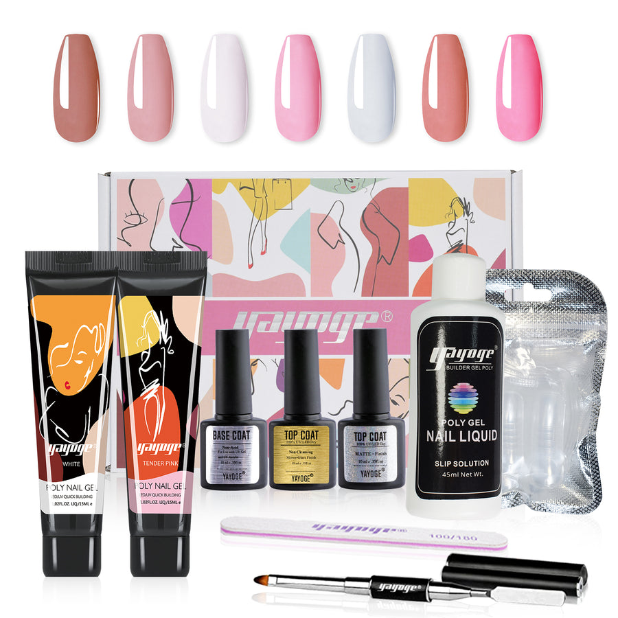 New Design 15ML Nail Extension Polygel Set YTNP15