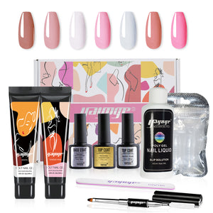 New Pack 10 PCs 2 Colors 15ML Nail Extension Polygel Set YTNP15072